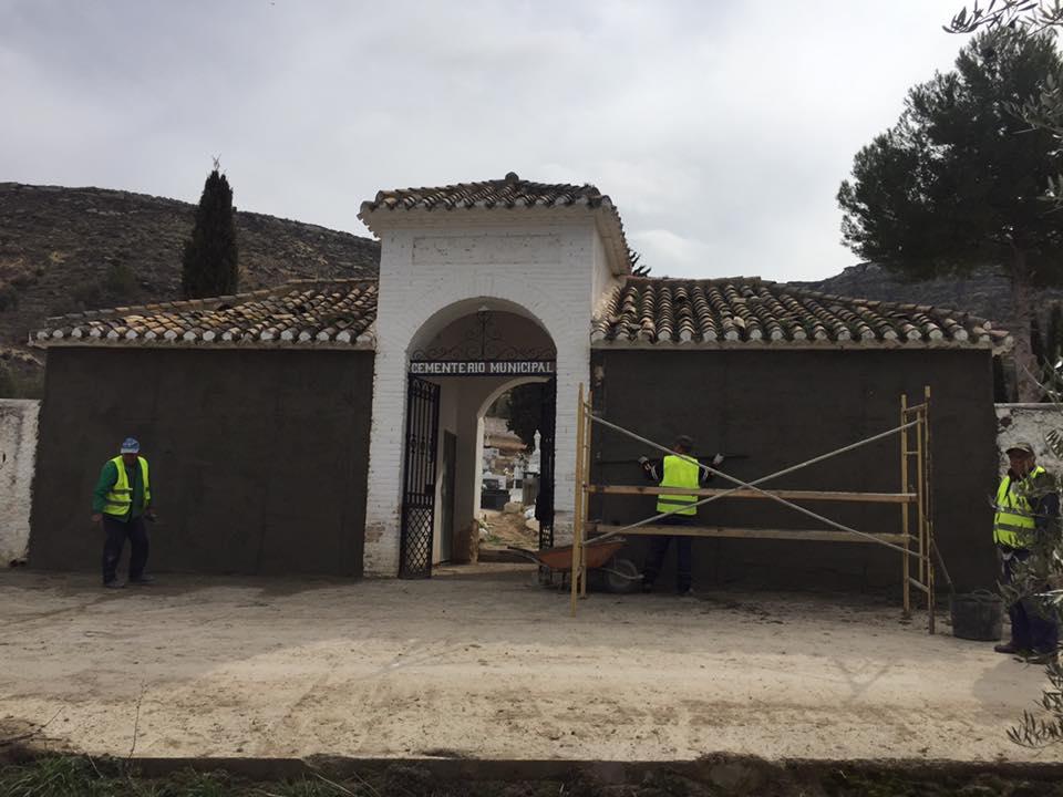 Remodelación del cementerio de Huélago