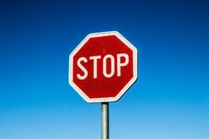 road traffic sign blue sky